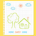 Home Sweet Home Royalty Free Stock Photos