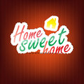 Home sweet home background with space for your text Royalty Free Stock Photography