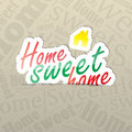 Home sweet home background sticker on a typography a lot of space for your text Royalty Free Stock Photos