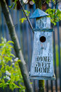 Home Sweet Home Bird House Royalty Free Stock Photo
