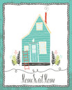 Home sweet home card Royalty Free Stock Photo