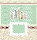 Home sweet home card vector illustration art cute Royalty Free Stock Image