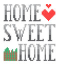 Home sweet home embroidery this is file of eps format Royalty Free Stock Photo
