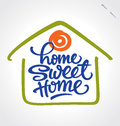 'home sweet home' hand lettering (vector) Stock Images