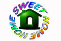 Home sweet home icon for related business Stock Images