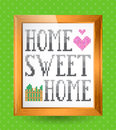Home sweet home sign this is file of eps format Royalty Free Stock Image