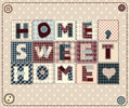 Home sweet home in style patchwork Stock Image