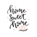 Home sweet home. Vector hand drawn lettering card. Vector blog icon Royalty Free Stock Photo