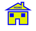 Home symbol for computer program or website Royalty Free Stock Photo