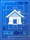 Home symbol like blueprint drawing stylized of house sign on paper qualitative vector eps illustration about architecture building Stock Photo