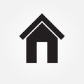 Home vector icon isolated on white background .