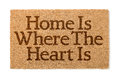 Home Is Where The Heart Is Welcome Mat On White Royalty Free Stock Photo