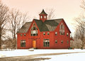 Home in winter rural barn style Royalty Free Stock Images