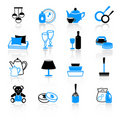 Home work and equipment icons Royalty Free Stock Photo