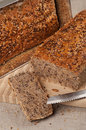 Homebaked bread sliced healthy wholegrain Royalty Free Stock Photos