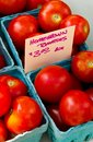 Homegrown Tomatoes for sale Stock Photos