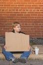 Homeless Boy Stock Image
