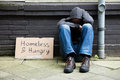Homeless And Hungry Man Royalty Free Stock Photo