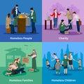 Homeless Icons Set