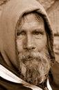 The Homeless Man Look Royalty Free Stock Photo
