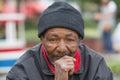 Homeless Man Thinking Royalty Free Stock Photo