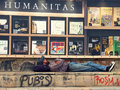 Homeless on street after austerity measures made by romanian government Stock Images