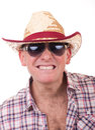 Homem bonito com chapéu de cowboy Fotos de Stock Royalty Free