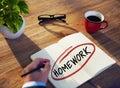 Homem de negócios diverso brainstorming about homework Fotos de Stock Royalty Free