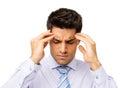 Homem de negócios suffering from headache Imagem de Stock