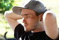 image photo : Young modern man depressed,stressed & under pressure