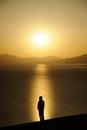 image photo : Man at sunrise
