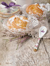 Homemade �houx pastry filled cream on the wooden background Royalty Free Stock Photography