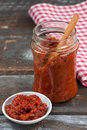 Homemade Ajvar Royalty Free Stock Photos