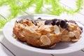 Homemade almond horn Stock Image