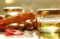 Homemade aromatic oils Royalty Free Stock Photo