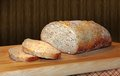 Homemade artisan bread a loaf of seeded Royalty Free Stock Photos