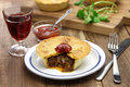 Homemade aussie meat pie Royalty Free Stock Photo