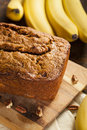 Homemade Banana Nut Bread Stock Image