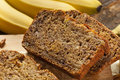 Homemade Banana Nut Bread Stock Photography