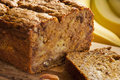 Homemade Banana Nut Bread Royalty Free Stock Images