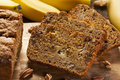 Homemade Banana Nut Bread Royalty Free Stock Image