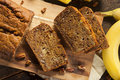 Homemade Banana Nut Bread Royalty Free Stock Photography