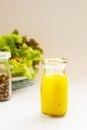 Homemade basic salad dressing Royalty Free Stock Photo