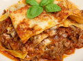 Homemade beef lasagna made to a traditional recipe from the north of italy Royalty Free Stock Images