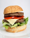 Homemade beefburger Royalty Free Stock Photos