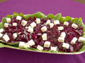 Homemade Beet Salad with Feta cheese Royalty Free Stock Photography