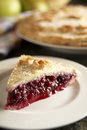 Homemade blackberry and apple pie Stock Image