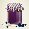 Homemade blueberry jam illustration of Stock Images
