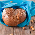 Homemade bread with nuts square image Royalty Free Stock Images