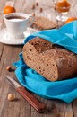 Homemade bread with tea and jam selective focus Stock Image
